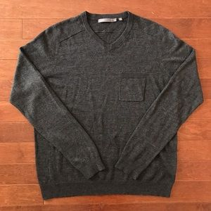 Vince Linen Blend Pocket Sweater